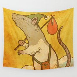 Muroidea Rat Tarot- The Fool Wall Tapestry