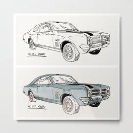 HK GTS Monaro Metal Print