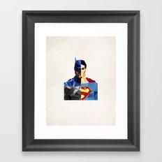 Polygon Heroes - VS Framed Art Print