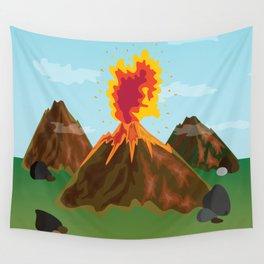 Hot Volcanos Wall Tapestry