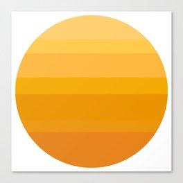 Minimal Sun Canvas Print