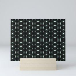Futuristic Dark Hexagonal Grid Pattern Design Mini Art Print
