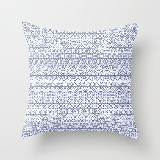 Circles & Curls Craze Throw Pillow