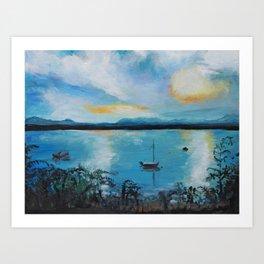 Lake Champlain at Sunset Art Print