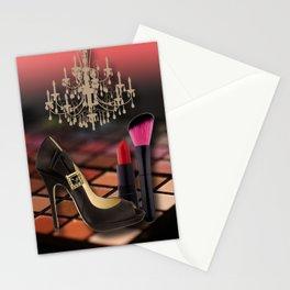 Fashion Accessories & Chandelier Collage Stationery Cards