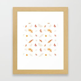 Watercolor autumn Framed Art Print