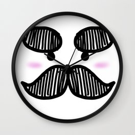 Moostache Face Wall Clock
