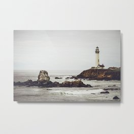 Lighthouse along the California Coast Metal Print