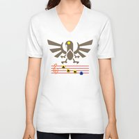 bioshock infinite V-neck T-shirts featuring Bioshock Infinite: Song of the Songbird by Macaluso
