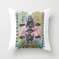 libra Throw Pillows featuring LIBRA by Caroline Vitelli GOODIES