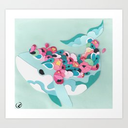 Blossoming Whale Art Print