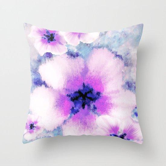 Rose of Sharon Bloom Throw Pillow