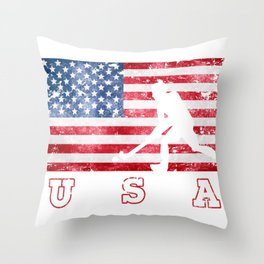 Team USA Field Hockey on Olympic Games Throw Pillow