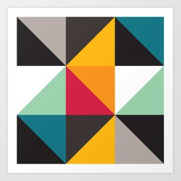 Geometric Pattern #30 (triangles) Art Print