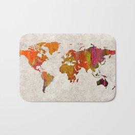 World Map 57 Bath Mat