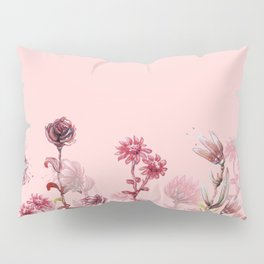 For Her ! Pink Flowers Pillow Sham