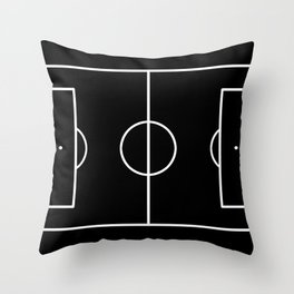 Soccer field / Football field in Black and White Throw Pillow