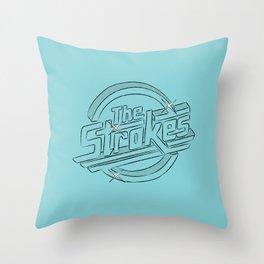 The Strokes Throw Pillow