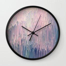 Blush Glitches Wall Clock
