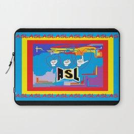 I Open Heart ASL Laptop Sleeve