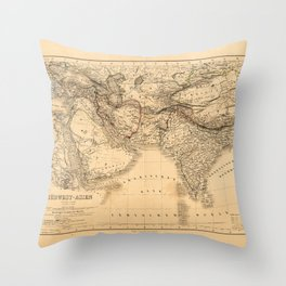 Middle East Southern Asia Map (1866) Throw Pillow