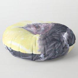 Watercolor Bird, Wild Mirriam's Turkey 02, Dunraven Trail, RMNP, Colorado, Christmas Dreams Floor Pillow