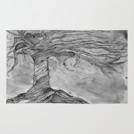Tree of Life (Grey Scale) Rug