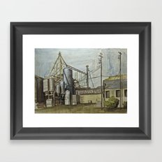 Industrial Fresno Framed Art Print