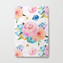 Pretty Watercolor Floral Metal Print