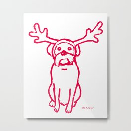 Scamp The Reindeer Dog Metal Print