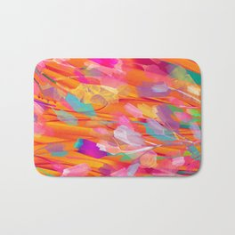 Floral abstract 55 Bath Mat