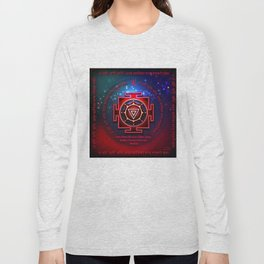 Kali Yantra with the Great Fifteen-Syllable Mantra Long Sleeve T-shirt