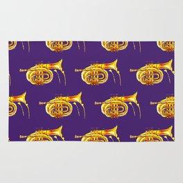 Golden Trumpet on purple Rug