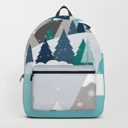 Camping - first snow fall Backpack