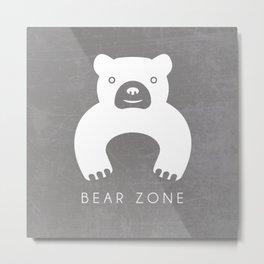 BEAR ZONE Metal Print