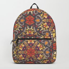 Colorful abstract ethnic floral mandala pattern design Backpack