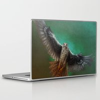 millenium falcon Laptop & iPad Skins featuring Falcon by ED Art Studio
