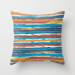 Tuscan painted summer Throw Pillow