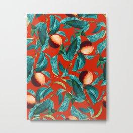 Vintage Fruit Pattern XI Metal Print