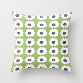 Mod Floral Green Throw Pillow