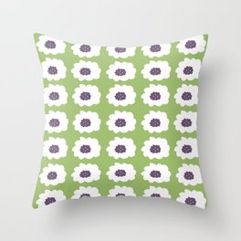 Mod Floral Green Throw Pillow