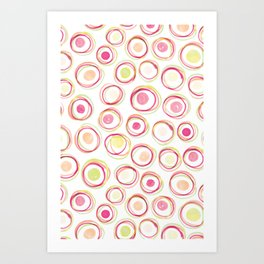 Watercolour Circles #2 | Sorbet Palette Art Print