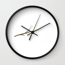 Marshmallows on stick Wall Clock