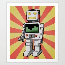 Groove Robot Art Print