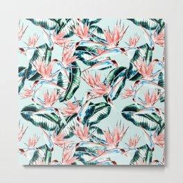 Pattern botanical Metal Print