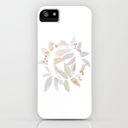 Rustic Initial O - Watercolor Letter Branches and Leaves iPhone Case