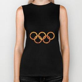Flaming Olympic Rings Biker Tank