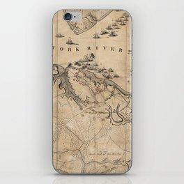 Vintage Battle of Yorktown Virginia Map (1781) iPhone Skin