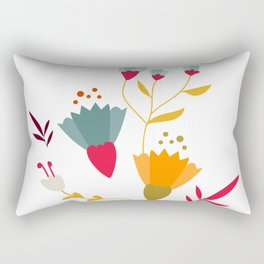 Colorful little spring flowers Rectangular Pillow