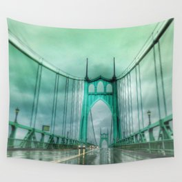 St John's Bridge Portland Oregon Wall Tapestry